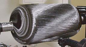 開発した燃料電池車用超高圧水素タンク